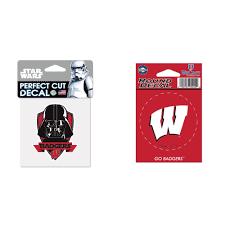 Wisconsin Badgers Official Ncaa Star Wars Darth Vader Die Cut Car Decal And Vinyl Car Decal Bundle 2 Items Walmart Com Walmart Com