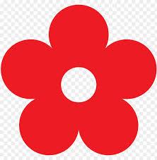 red flower clipart png cartoon flower