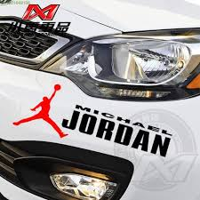 Reflective Car Stickers Michael Jordan Design Car Bumper Head Decor Vinyl Sticker On Car For Hyundai Ix35 Kia Rio Ford Focus 2 Stickers 2 Sticker Bombcar Country Stickers Aliexpress