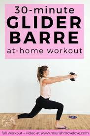at home glider disc barre workout