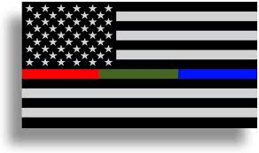 Amazon Com Police Military And Fire Thin Line Usa Flag American Flag Sticker Blue Green And Red Stripe For Cars Trucks Cups Laptops Vinyl Window Bumper Arts Crafts Sewing