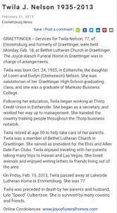 Twila Jean L. Nelson (1935-2013) - Find A Grave Memorial