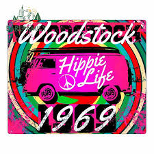 Arlfamily 13cm X 10 7cm Woodstock Hippie Background Funny Car Stickers And Decals Laptop Waterproof Color Car Decoration Car Stickers Aliexpress