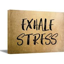 Awkward Styles Exhale Stress Canvas Wall Art Yoga Quotes Wall Decor Inspirational And Motivational Wall Art Inspirational Quotes Wall Art For Office Living Room Decor Gifts For Yoga Lovers Yoga Art