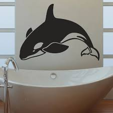 Orca Killer Whale Bathroom Living Room Bedroom Contemporary Home Decal Window Stick Removable Vinyl Wall Art Decal Sticker B059 Decal Sticker Vinyl Wall Art Decalsvinyl Wall Aliexpress