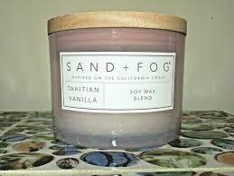 sand fog candle tahitian vanilla wood
