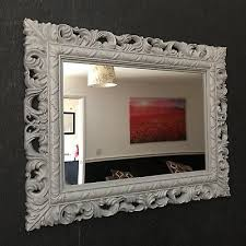 grey resin style french ornate mirror