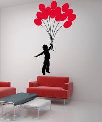 Vinyl Wall Decal Sticker Boy With Balloon Bouquet 5007 Stickerbrand