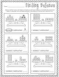balance each side worksheets 99worksheets