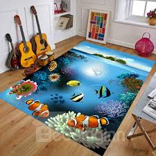 cartoon style waterproof soft area rug