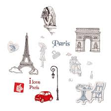 Shop Bedroom Paris Impression Pattern Wall Sticker Art Mural Decal Wallpaper Red Chocolate Color Khaki On Sale Overstock 28888636
