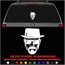 Amazon Com Breaking Bad Heisenberg Die Cut Vinyl Decal Sticker For Car Truck Motorcycle Vehicle Window Bumper Wall Decor Laptop Helmet Size 6 Inch 15 Cm Wide Color Gloss Black