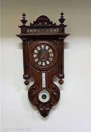 antiques atlas walnut wall clock with