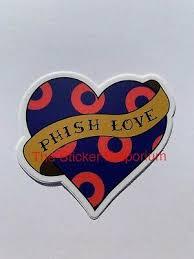 Phish Love Donut Sticker Water Bottle Laptop Tumbler Vinyl Car Decal Ebay