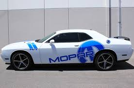 Dodge Challenger 08 14 Blue Vinyl Mopar Graphics For Both Sides Of Vehicle