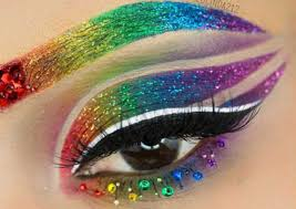 rainbow eye makeup is all the rage now