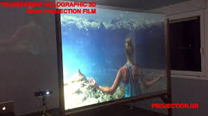 transpa rear projection film demo