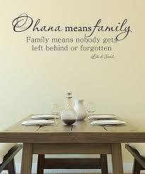 Black Ohana Means Family Wall Decal Family Wall Decals Family Wall Family Wall Quotes