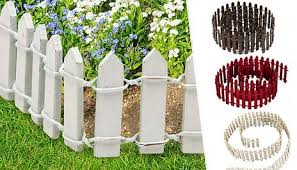 Gogroopie Small Garden Wooden Picket Fence 4 Colours
