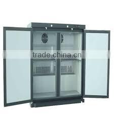 hot double door upright freezer