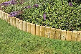 Decorative Fences Home Garden Store Crazyshop1 1m Fixed Picket Fence Log Roll Border Edge Garden Outdoor Lawn Edging 6