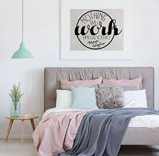 Amazon Com Inspirational Work Hard Wall Decal Nothing Will Work Unless You Do Motivational Vinyl Decor Lettering For Office Bedroom Living Room Gym Handmade