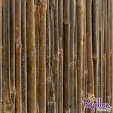 Thick Carbonised Black Bamboo Fencing Screening Roll 1 9m X 1 8m 6ft 2in X 6ft By Papillon 69 99