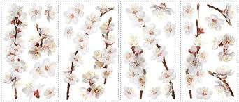 Amazon Com Chsgjy New Dogwood Flowers Wall Decals Tree Branches Room Stickers Floral Home Decor Furniture Decor