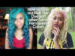 how to fade out blue hair dye and other