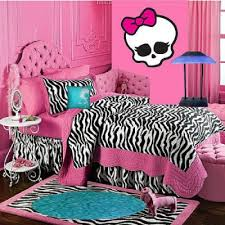 Monster High Room Decor Ideas For Kids Room Zebra Bedroom Pink Zebra Bedrooms Zebra Room