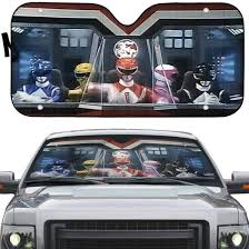 Mighty Morphin Power Rangers Custom Auto Car Sunshade Gearhumans 3d Apparel Poster Mug And More