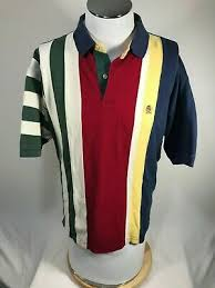 multi stripe color block rugby shirt
