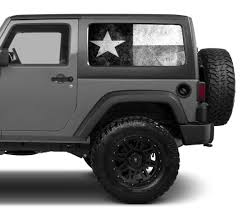 Universal Texas Flag Black White Window Tint Perforated Vinyl Fits Roe Graphics And Apparel