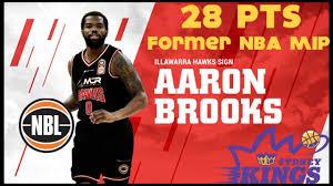 Aaron Brooks Illawarra Hawks vs Sydney Kings NBL Australia Pre ...