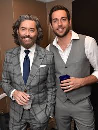 "Timothy Omundson, left, and Zachary Levi attend the 23rd annual ""A Night at  Sardi's"" to benefit the Alzheimer's Association at the … 