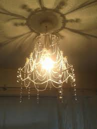 my homemade chandelier using strings of