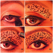 leopard eye makeup tutorial