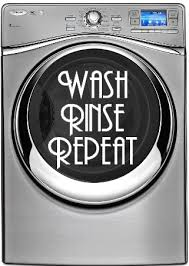 Wash Rinse Repeat Vinyl Decal Mistically Made