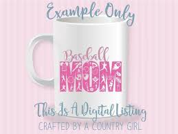 Baseball Mom Svg Cut File Silhouette Cameo Vinyl Cut File Cricut Die Cut Scrapbook Life Design Yeti Decal Softball Gift By Crafted By A Country Girl Digital Designs Catch My Party