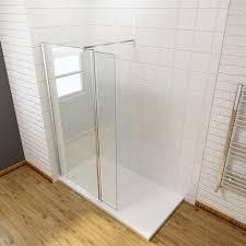 frameless wet room shower screen panel