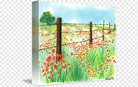 Painting Canvas Print Printing Barbed Wire Painting Outdoor Structure Landscape Fence Png Pngwing