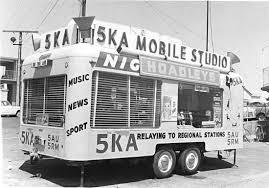 Mobile studio (1960s?) of 5KA, commercial radio station in ...