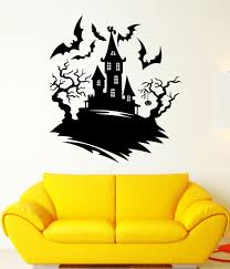 Wall Decal Darkness Night Bats Castle Halloween Tree Fear Vinyl Decal Unique Gift Ed376 Decoracion Halloween Dibujos Halloween