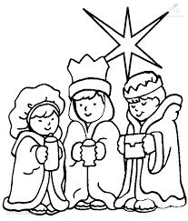 1001 Kleurplaten Kerst Wijzen 3 Wijzen