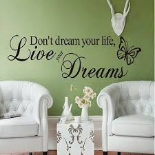 Living The Dream Quote Stickers Wall Decals Living Room Bedroom