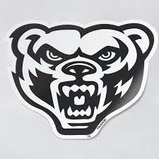 Oakland University Golden Grizzlies White Grizz Head Car Etsy