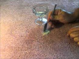 nail polish from carpet using hair gel