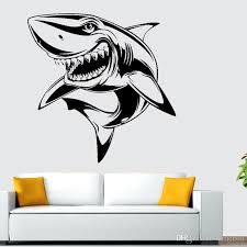 Horrible Shark Wall Decals Vinyl Animals Wall Art Stickers 23 22 Living Room Boys Room Wall Decor Removable Sticker For Walls Sticker Home Decor From Carrierxia 3 76 Dhgate Com