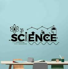 Science Wall Decal Classroom Vinyl Sticker Chemistry Decor Education Poster 176b Ebay