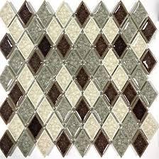 multi color mosaic tile backsplash